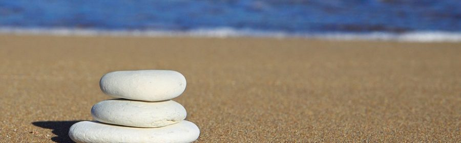 Steine am Strand